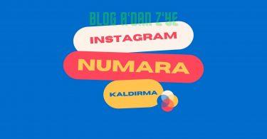 Instagram telefon numarası silme